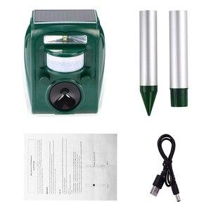 Image 5 - Outdoor Garden Solar Ultra Sound Outdoor Animal Repeller Motion Sensor Flash Light Bird Dog Cat Raccoon Rabbit Animal Dispeller