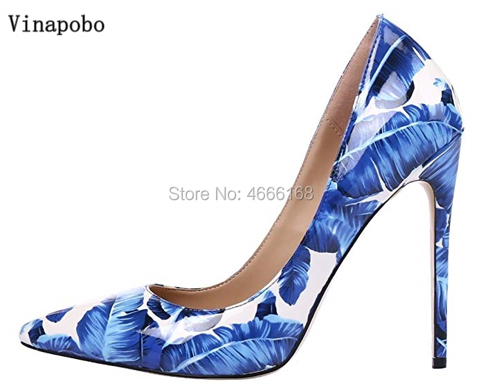 2019 New Spring Autumn Women Pumps High Stiletto heels Pointed Toe Slip On Sexy Office Blue