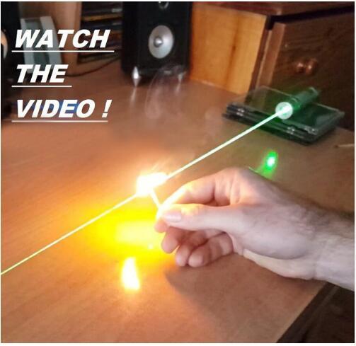 AAA Yüksek güç 500 w 500000 M Yeşil lazer işaretçi 532nm Odaklanabilir Yanan maç, yanık sigaralar ışık, astronomi Lazer avcılık