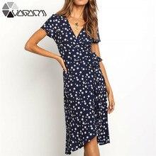 купить 2019 Elegant Casual Party Girls Dresses With Belt Women Flower Print Sexy Midi Dress Vintage Retro Plus Size Dress Vestidos New по цене 1111.06 рублей