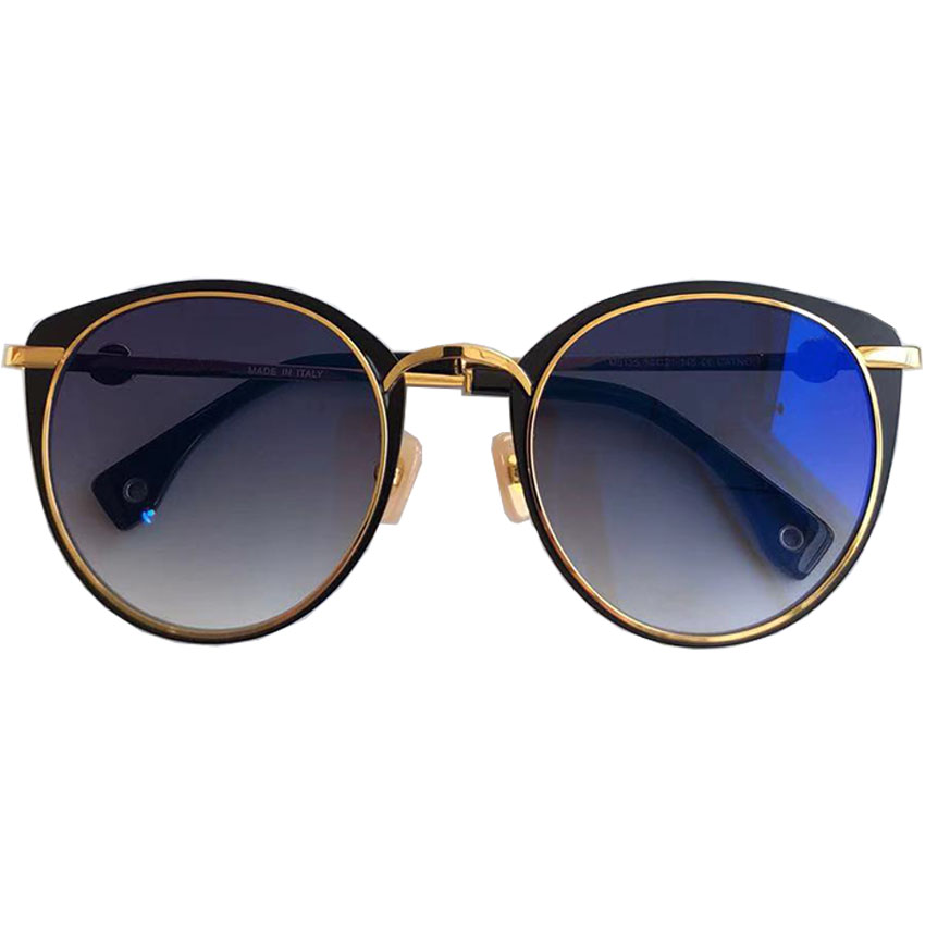 Qualität 2019 Marke navy Oculos Metall Rahmen Designer Für Goldene Sonnenbrille silver Gray amp; Lens Sams Vintage So Hohe pink Gradient Weibliche Frauen brown Ew7C7q
