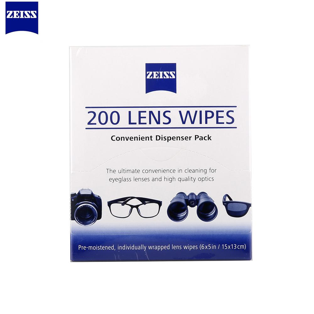 200pcs Zeiss Pre-moistened Lens Cleaning Wipes Lenses LCD Computer  Action Mini Camera Cleaner Screen Cleaners-SGS Verified