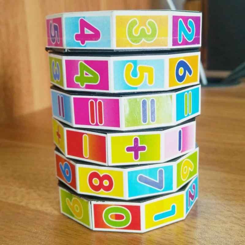 おかしいカラフルな円筒番号玩具プラスチック楽しいカウントブロック子供の早期教育学習ツールインテリジェンススティック玩具