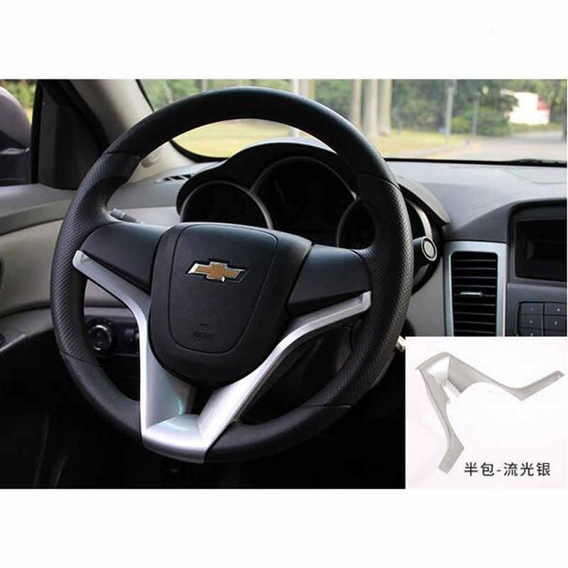 Auto Lenkrad Trim Abdeckung Aufkleber Für Chevrolet für Cruze Limousine Fließheck 2011 2012 2013 2014 Chrom Aufkleber Zubehör