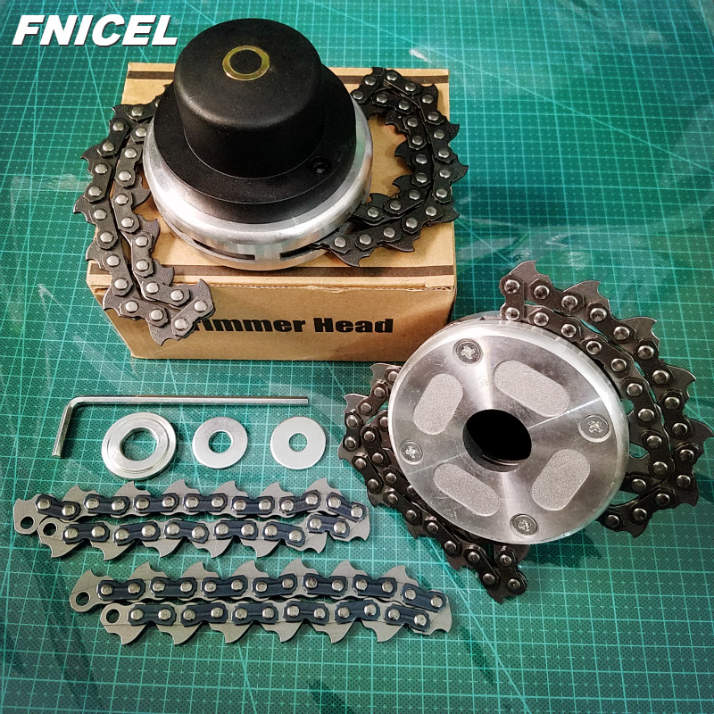 Universal Lawn Mower Chain Trimmer Head Chain Brushcutter For Trimmer Garden Grass Brush Cutter Tools Spare Parts