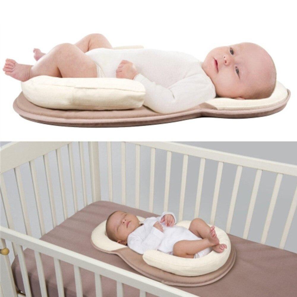 Image 3 - Голова правильного ребенка новорожденного от переворачивания матрас, растягивается Подушка детская подушка для сна позиционирование путь хлопок подушка матрас on AliExpress