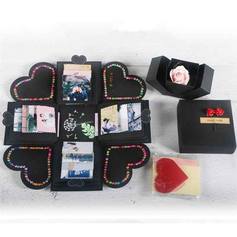 DIY Surprise Love Explosion Box Gift For Anniversary Scrapbook Photo Album Birthday 12x12x12cm