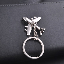 Civil Aircraft Model Charm Keychains Purse Bag Buckle Pendant For Car Keyrings key chains holder women Jewelry Accessories Gift