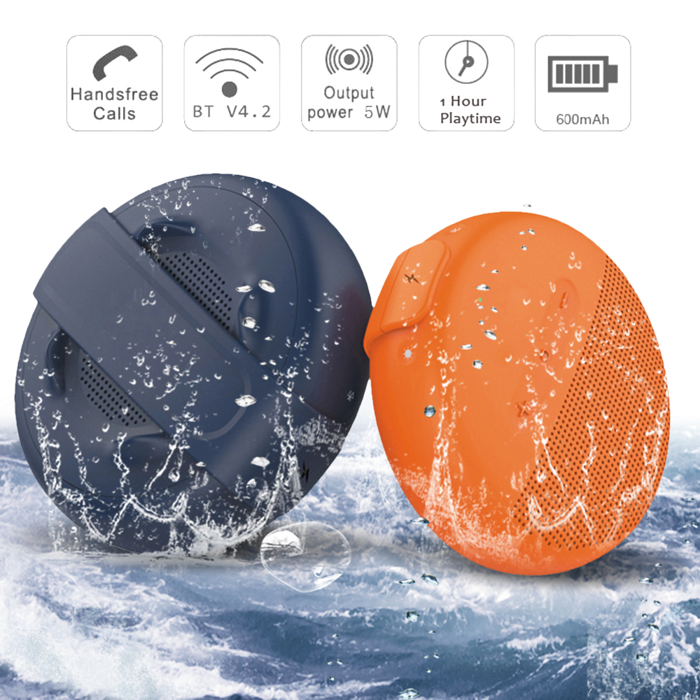 5W Wireless Bluetooth Speakers Waterproof IPX7 Portable Speaker Outdoors Sound Box Horn Silicone Hook Speaker Dropship