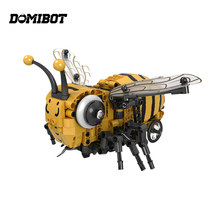 Domibot Electronic Bee RC Smart Robot Mecanum Wheels Obstacle Avoidance Toy Gift(China)