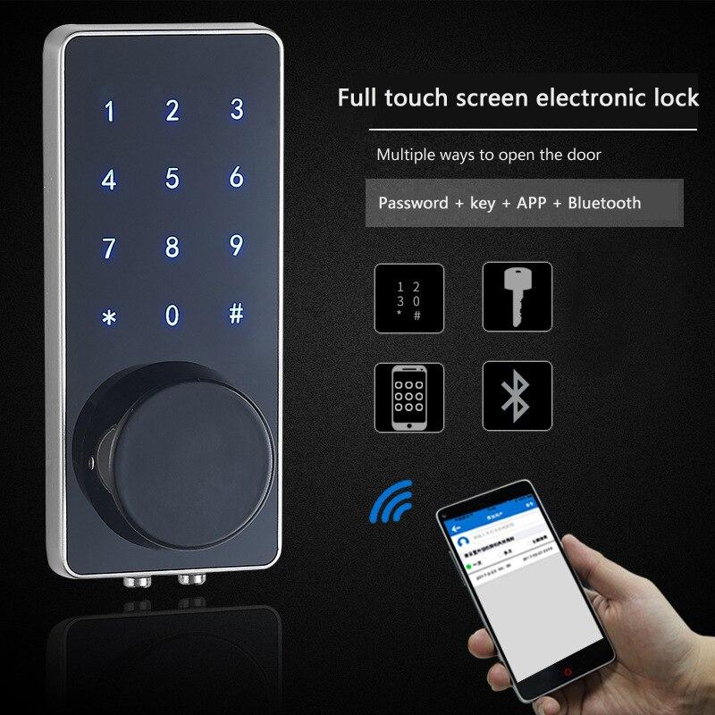 APP déverrouiller mot de passe serrure location maison hôtel pour serrure auxiliaire télécommande antivol porte serrure intelligente avec mot de passe numérique