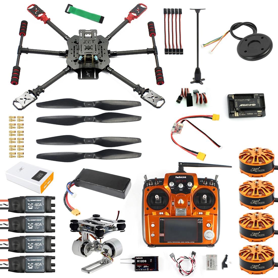 10CH 2,4 Ghz X4 460mm 560mm Dach Gefaltet RC Quadcopter 4-Achse ARF RTF Unassemble DIY GPS drone APM PIX w/Gimbal FPV Upgrade