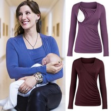 Breastfeeding T-shirt Autumn Winter Breast Feeding Tops Tees Maternity Nursing Clothes Pregnant Women Premama Wear Clothing korean maternity breast feeding dress clothing pregnancy wear long blouse shirt dresses premama vestido pregnant nursing clothes