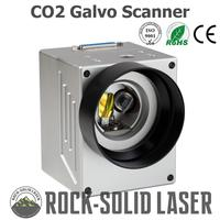High Speed CO2 Galvo Scan Head Galvanometer Scanner CO2 Marking Machine Parts 1064nm Input 10mm SG7110 with Power Supply Set