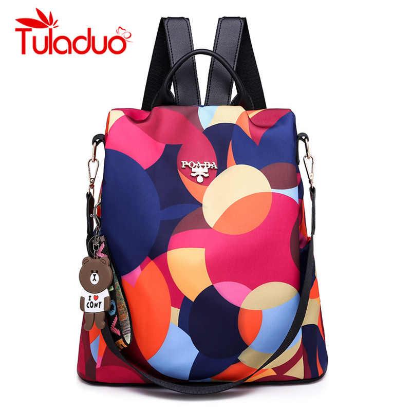 Лоскутная сумка водонепроницаемый Оксфорд женский рюкзак школьные сумки для