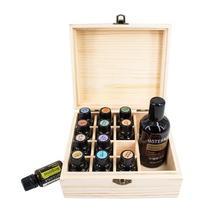 13 Slot Essential Oil Bottle Storage Box Wood Aromatherapy Organizer For 5 \10\15ML Portable Travel