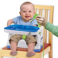 Folding Portable Children's Dining Chair Baby Plastic High Chair Securely Tied To Most Dining Chairs
