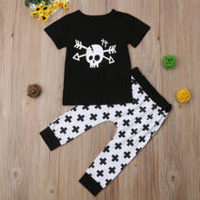 Toddler Kids Baby Boys Girls Clothes T-shirt Tops + Cargo Pants 2PCS Outfit Clothes Set(China)