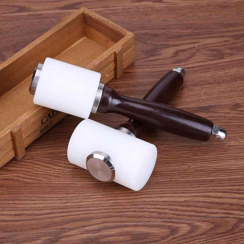 High Quality Leather Carving Hammer DIY Craft Cowhide Punch Cutting Nylon Hammer Tool with Wood Handle Leathercraft Carving