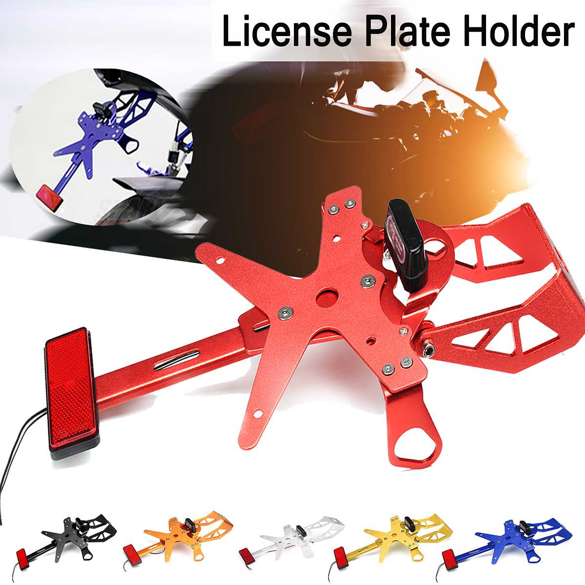 Motorcycle License Plate Holder Bracket Aluminum For Yamaha R1/R3 MT-09/07 For KAWASAKI Z800/1000