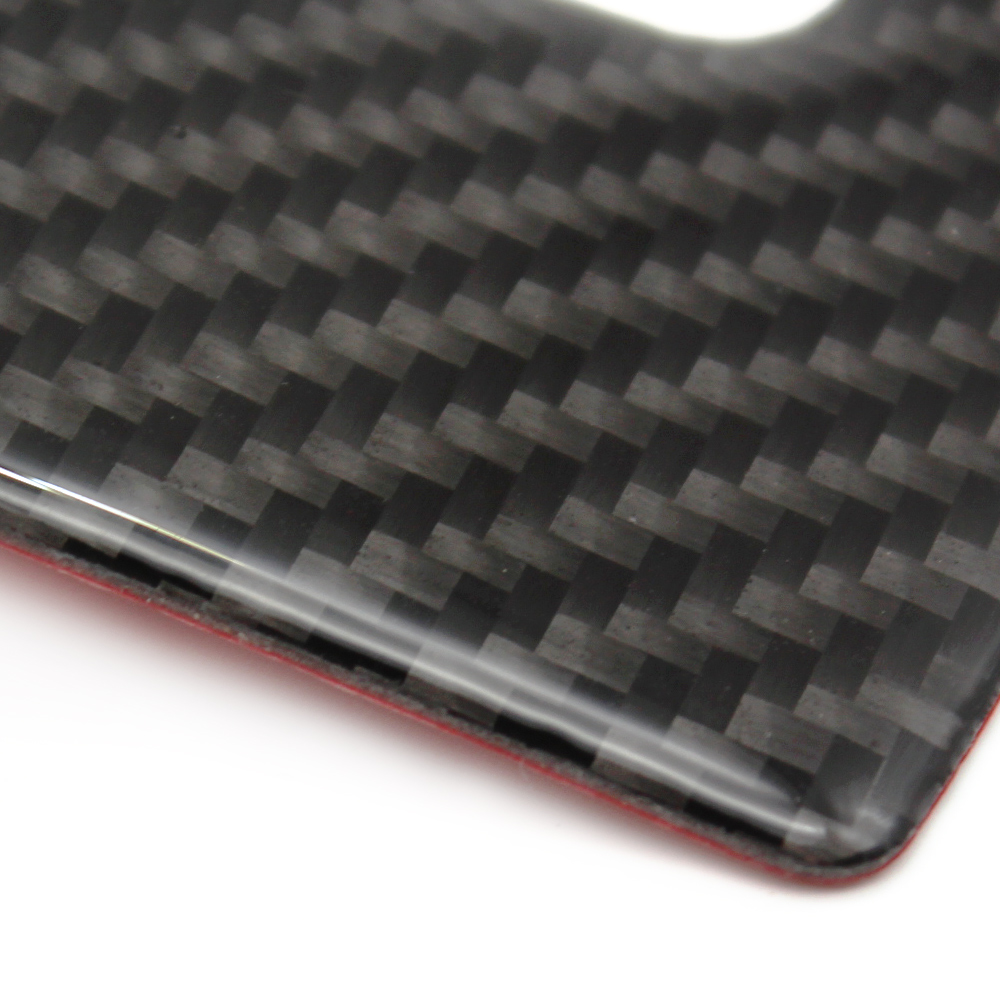 For Mazda CX 5 CX5 2017 2018 Carbon Fiber Car Center Armrest Box Rear Air Vent Outlet Cover in Interior Mouldings from Automobiles Motorcycles