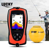 Lucky Wireless Fish Finder Echo Sounder Fishfinder Sonar for Boat Fishing Portable Fish Depth Finders Sensor FF1108-1CWLA B9