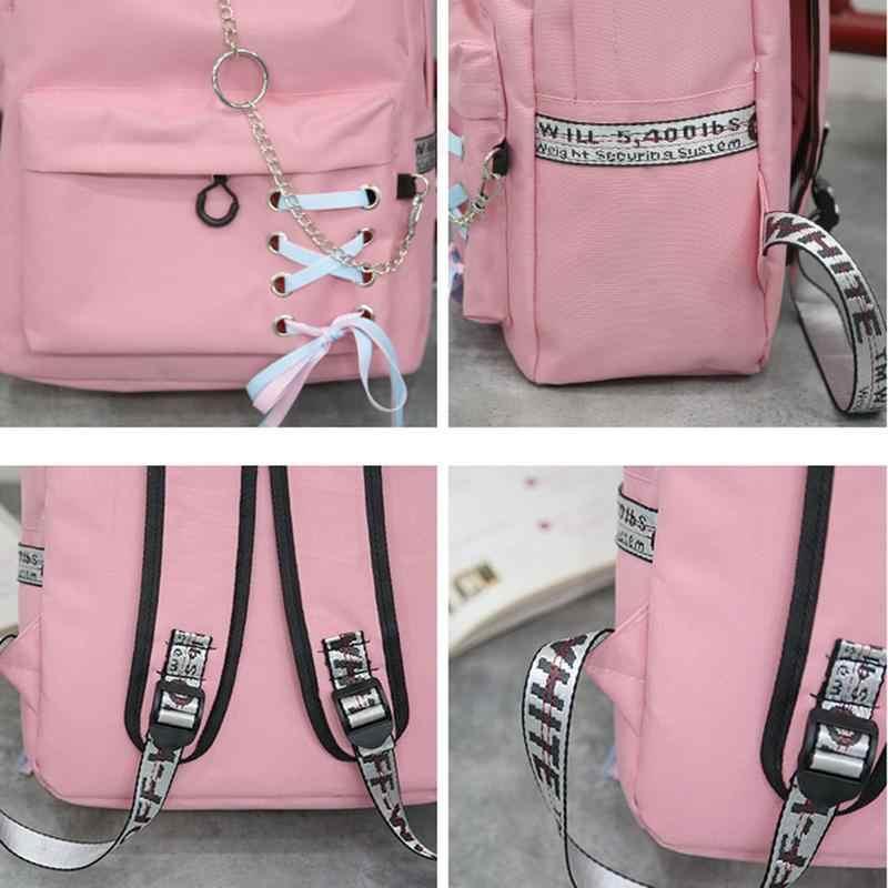 Новый рюкзак в Корейском стиле Харадзюку школьный студенческий рюкзак кампус Оксфорд рюкзак для путешествий