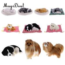 MagiDeal Lifelike Plush Simulation Animal Sleeping Dog Model Table Bedroom Bed Desk Ornament Kids Children Baby Cute Toy 8Kinds(China)