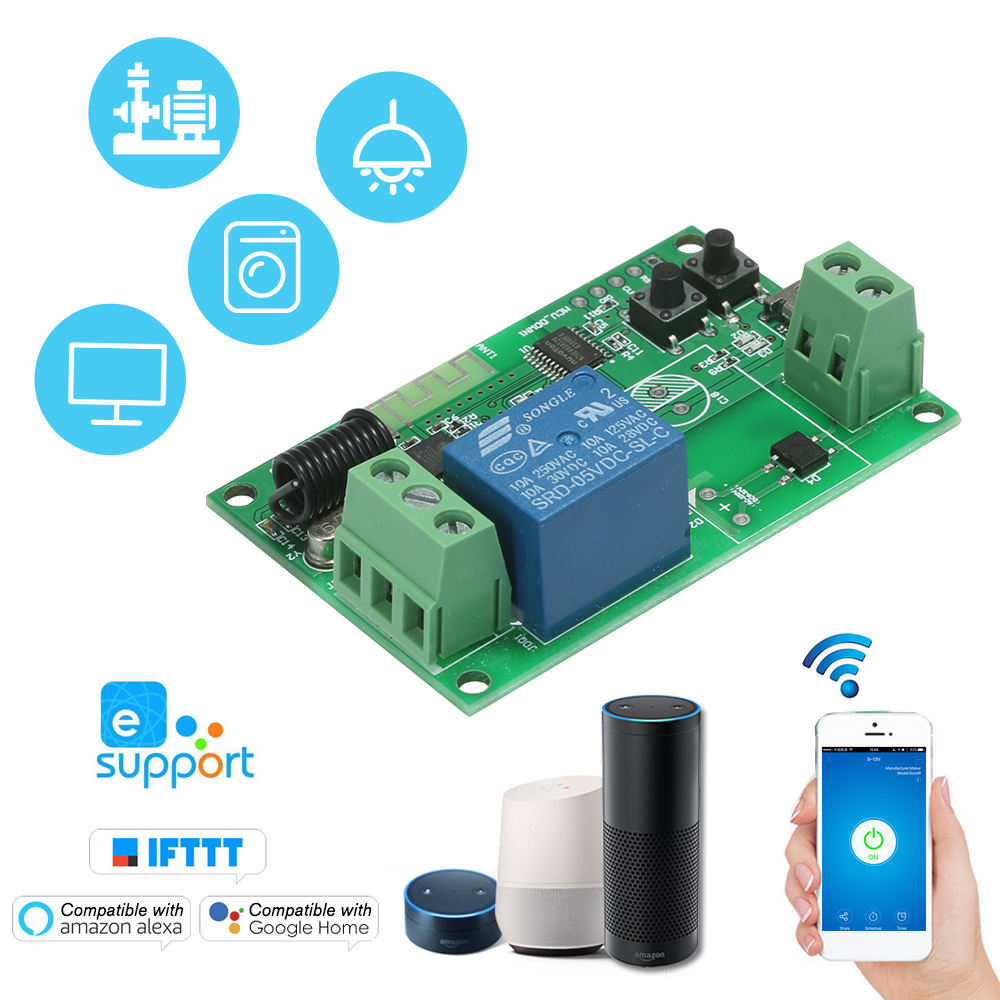 Relay-Module Wifi-Switch App-Control Smart 433mhz Android/ios Home Ewelink RF Wireless