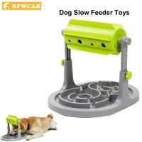 RFWCAK Food Treated Dog Cat Toys Food Feeder Educational Dog Puzzle Interactive IQ Training Game Toy Anti choke Slow Feeder Bowl