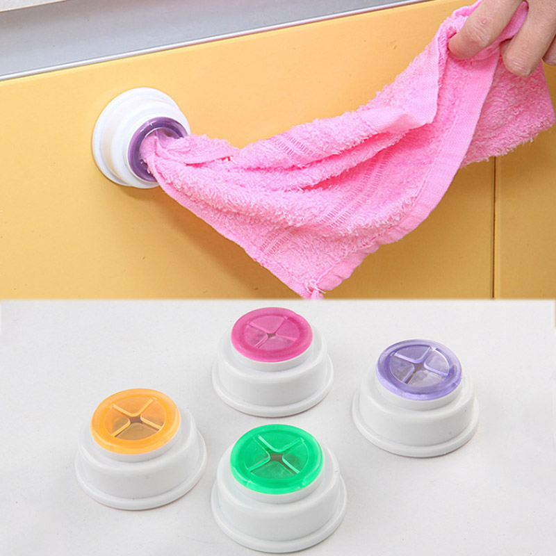 Sale 1PC Home Supplies Storage Hooks High Quality   Bathroom Kitchen Storage Organization Towel Clip Random Color