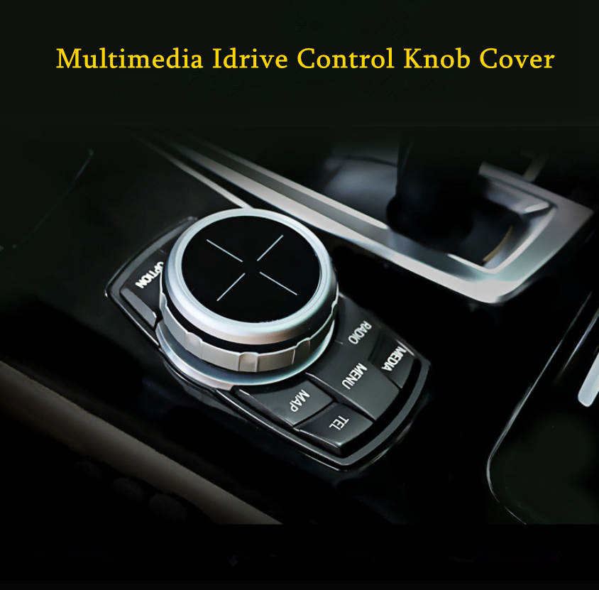 Car Multimedia Idrive Control Knob Cover Trim Auto Panel Stickers For BMW 5 Button 7 Button Car Styling Accessories in Automotive Interior Stickers from Automobiles Motorcycles