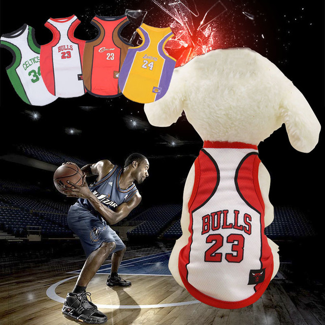 4de14d608 Soccer NBA Jersey Dog Shirt Cheap Dog Clothes For Small Dogs Summer  Chihuahua Tshirt Puppy Vest