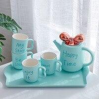 Распродажа буквы бабочка чайная чашка горшок набор кофе чайник подарок на день рождения Рождество креативная посуда для кофе кружки наборы