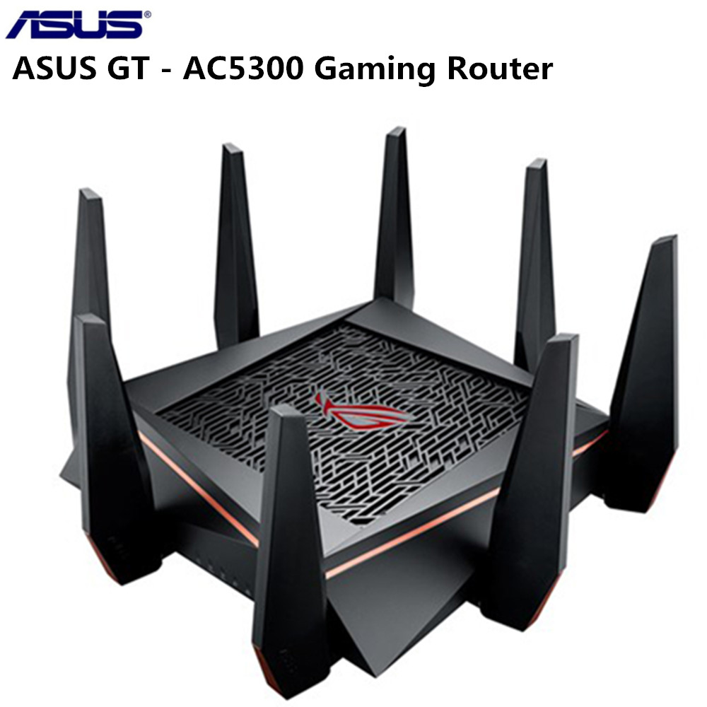 ASUS GT AC5300 Tri band Gaming Router ROG gaming center PC grade CPU for VR gaming 4K streaming Support Windows 10,Windows 8.1