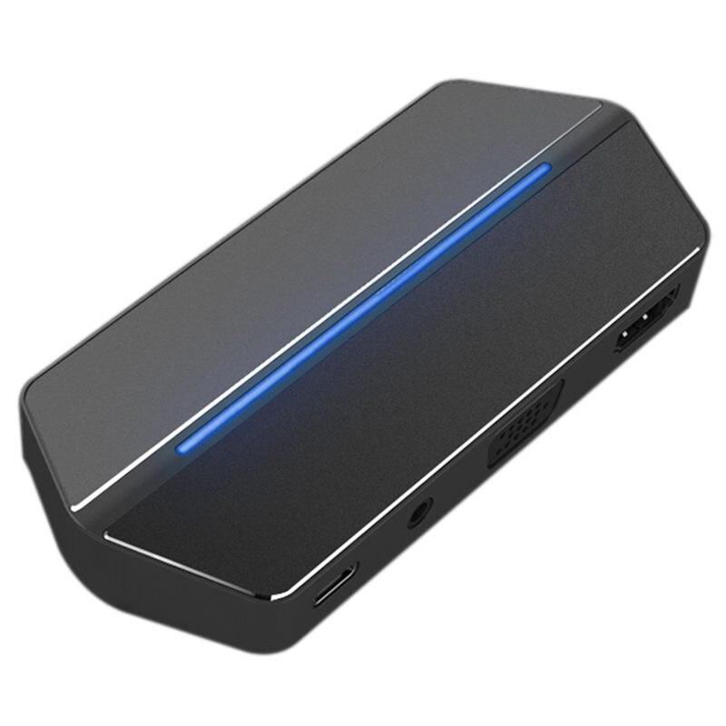 USB Type C Hub Adaptateur 8 dans 1 Hub avec HDMI/VGA Port, USB 3.0/3.5mm Audio, CF/SD/TF Lecteur de Carte, Type C La Livraison de Puissance Chargin