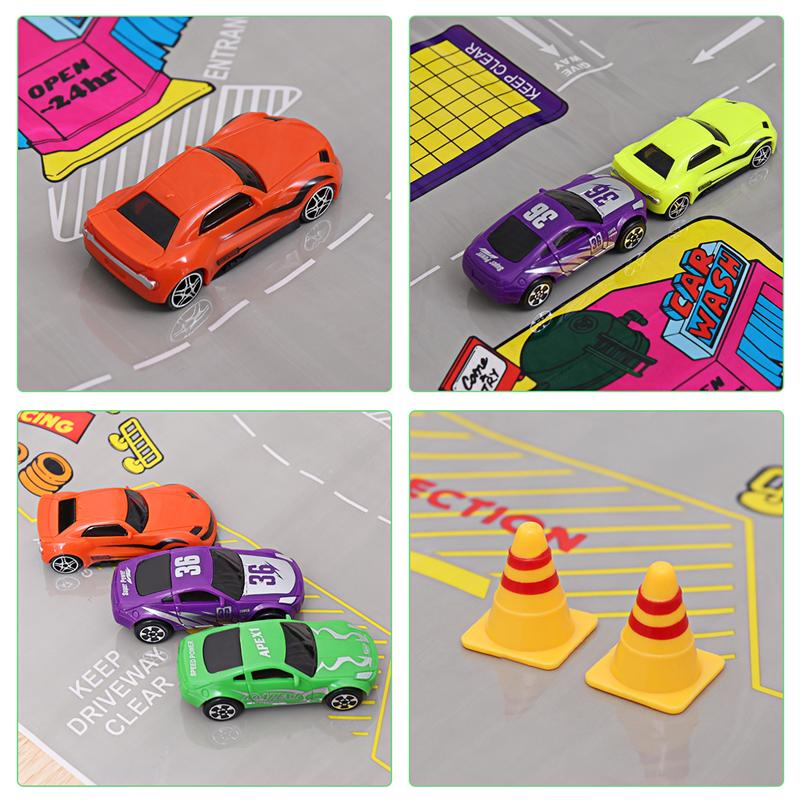 Image 5 - 16Pcs/Set Transport Car Carrier Truck Boys Toy (include Alloy 10 cars &2 Helicopters &2 Roadblocks & City Map ) For Kid Children-in Diecasts & Toy Vehicles from Toys & Hobbies