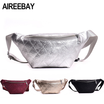AIREEBAY Casual Women Waist Bag Brand Designer Fanny Packs Retro Style Girls Belt Bag 2019 New Small Leather Chest Travel Pouchs Мотоцикл