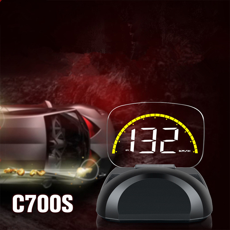 Dual System OBD Car HUD Head Up Display OBD2 GPS Speedometer On Board Computer Dash Mirror Digital Projection C700s in Head up Display from Automobiles Motorcycles