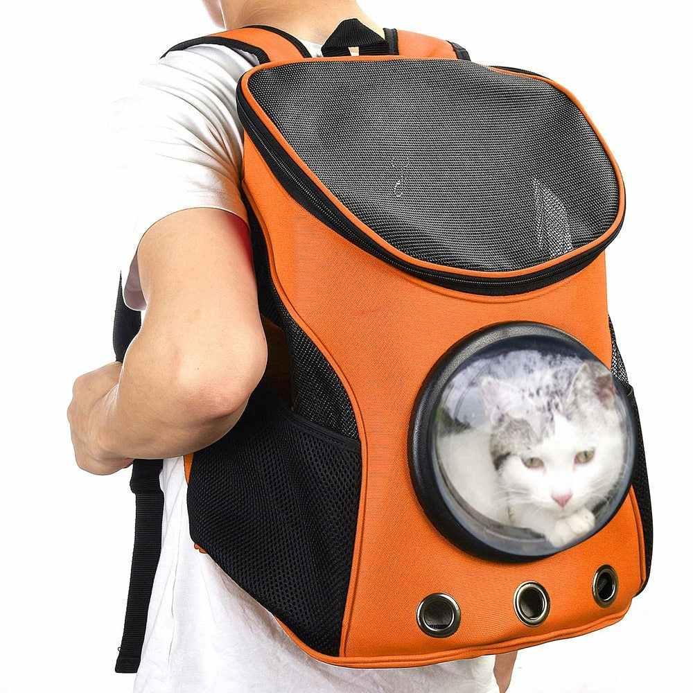 แมว-กระเป๋าเป้สะพายหลังแมวสัตว์เลี้ยงสุนัขกระเป๋าเป้สะพายหลังสำหรับ Kitty Puppy Chihuahua สัตว์เลี้ยงแมว Dog Carry กระเป๋ากระเป๋าเดินทาง Space แคปซูลกระเป๋าเป้สะพายหลังกระเป๋า