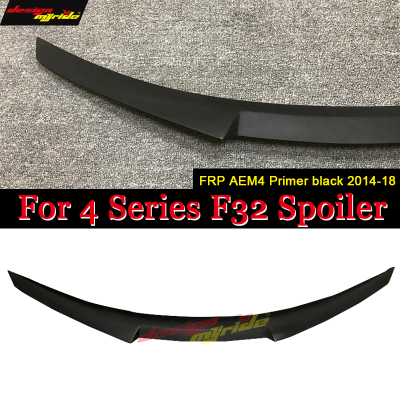 F32 Tail Spoiler Rear Wing AEM4 Style FRP Primer black for BMW F32 Tail Trunk Lid Boot Wing 4 Series 440i 420i 428i 430i 2013 18-in Spoilers & Wings from Automobiles & Motorcycles    1
