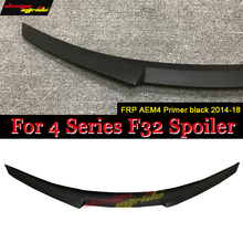 F32 Tail Spoiler Rear Wing AEM4 Style FRP Primer black for BMW F32 Tail Trunk Lid Boot Wing 4-Series 440i 420i 428i 430i 2013-18