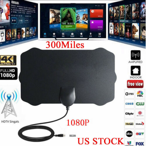 300 Mile Range TV Antenna Digital HD Skywire 4K Antena Digital Indoor HDTV 1080p