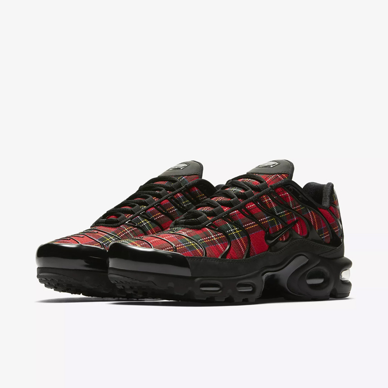 US $62.16 72% OFF|Nike Air Max Plus Tn Se New Arrival Woman Running Shoes Air Cushion Shoes Scotland Red Lattice Outdoor Sneakers #AV9955 001 in
