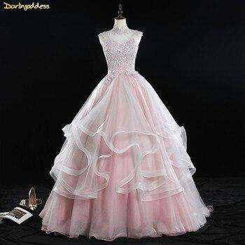b8df51880 De color rosa 2019 barato vestidos Quinceanera vestido de bola de ...
