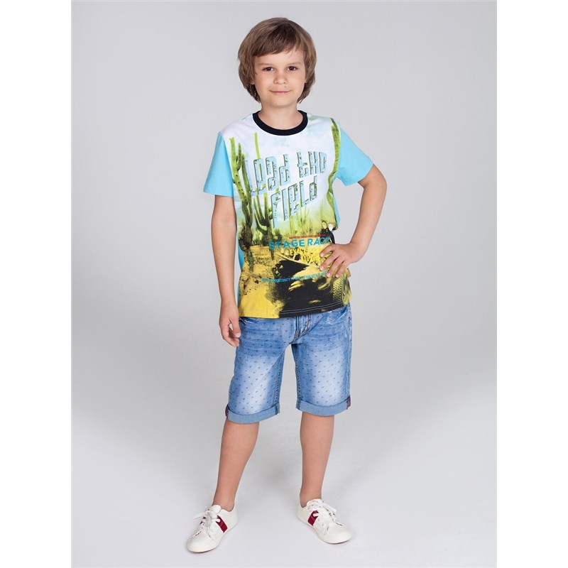 Shorts Sweet Berry Boys denim shorts children clothing roll up denim shorts