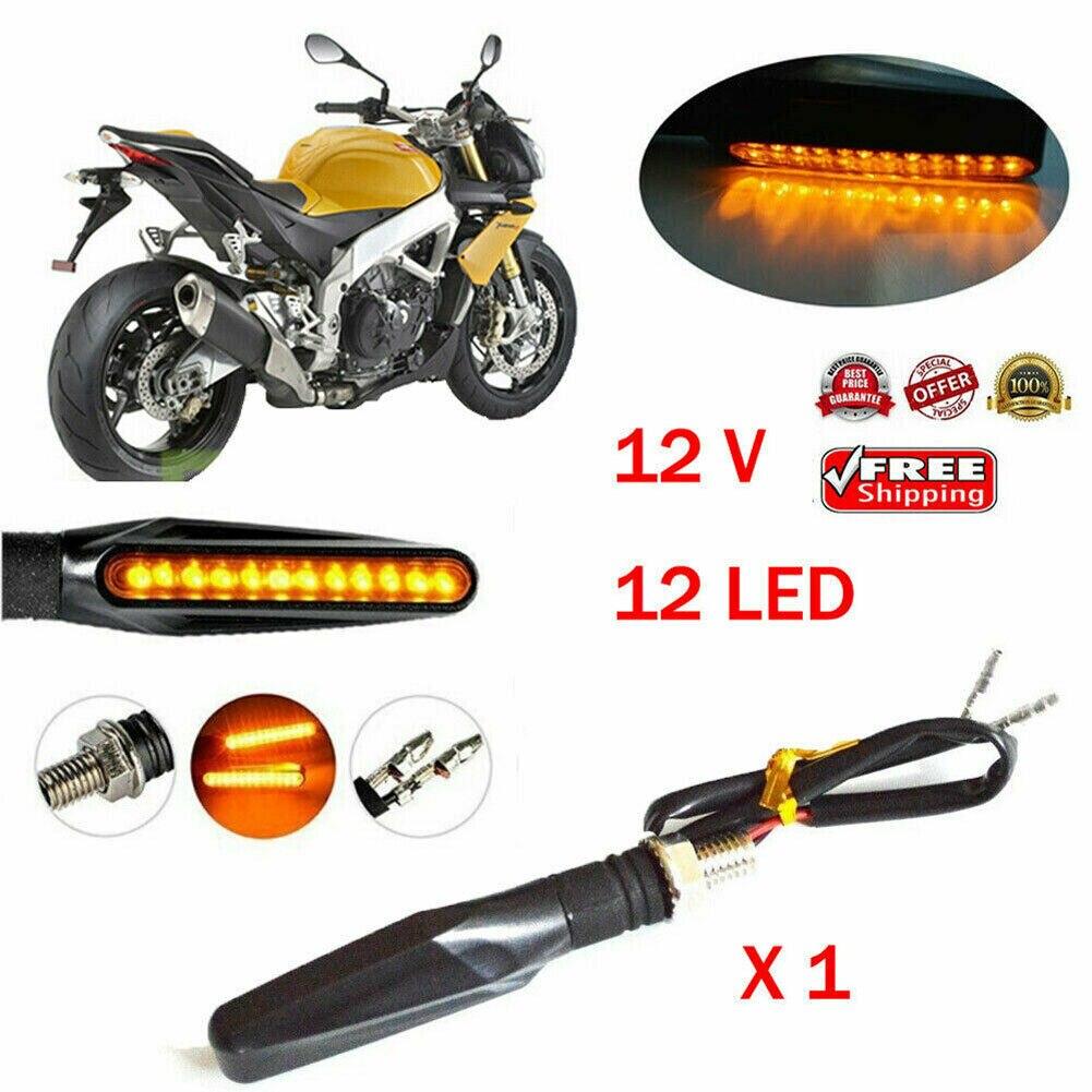 2019 Hot Motorcycle Bike Black LED Turn Signal Blinker Light Indicator Amber Universal  LED Turn Signal Light Novelty