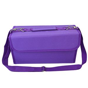 Image 3 - 80 Slots Large Capacity Folding Marker Pen Case Art Markers Pen Storage Carrying Bag Durable Sketch Tools Organizer