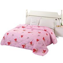 Одеяло из полиэстера постельных принадлежностей принт лето тонкое стеганое одеяло Air дышащее одеяло Стёганое одеяло s для двуспальная кровать