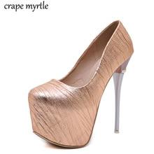 купить ladies shoes heels sexy platform heels shoes party pump Wedding Shoes pumps Round Toe thin high heels Glitters shoes YMA677 по цене 1642.64 рублей